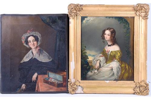 Lot 57 - 19th century English school, a portrait of a...