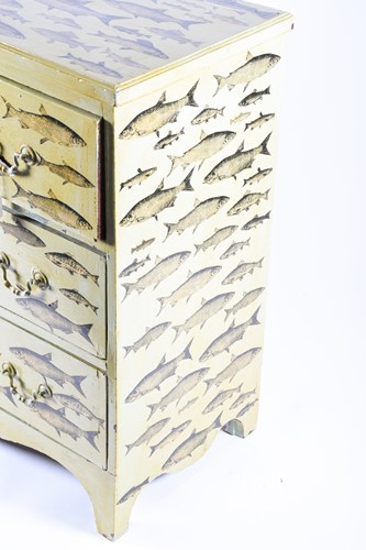 Lot 133-A Liberty of London painted chest of drawers,...