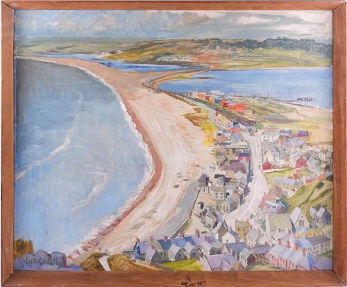 Lot 47 - Len. W. Randall, 'Chesil Beach & The fleet...