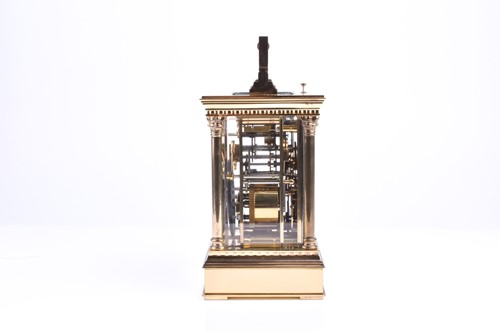 Lot 396-A L'Epee French brass carriage clock with...
