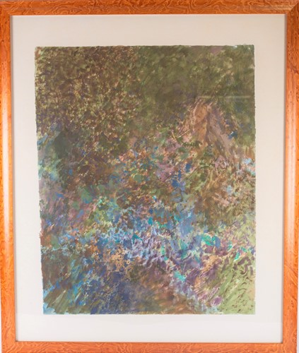 Lot 7-John Hubbard (1931-2017) American, an abstract...