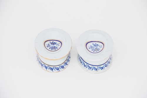 Lot 6-A pair of Chinese trencher salts, Qianlong,...