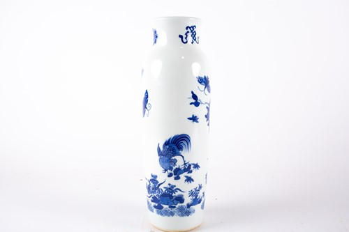 Lot 11-A Chinese blue and white vase, painted with...