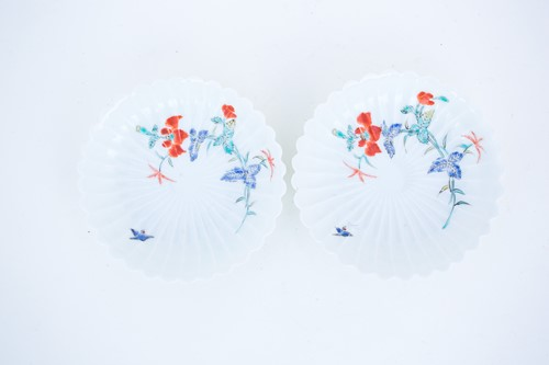 Lot 35-A pair of fluted Kakiemon saucers, circa 1770,...