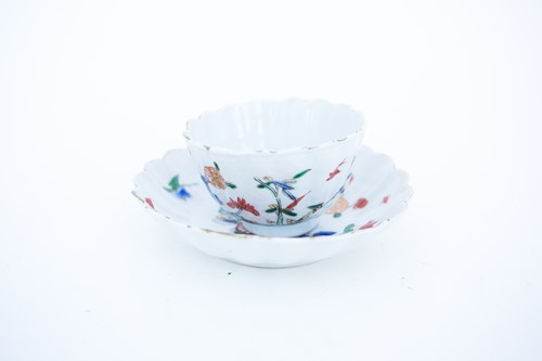 Lot 27-A Chinese fluted tea bowl and saucer, circa...