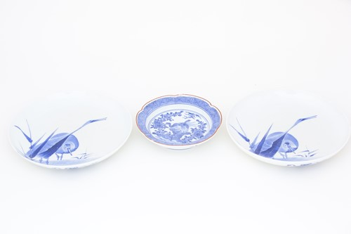 Lot 47-A small Arita dish, 19th century, after an...