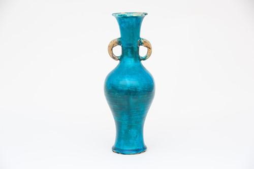 Lot 8-A Chinese porcelain turquoise glaze vase,...