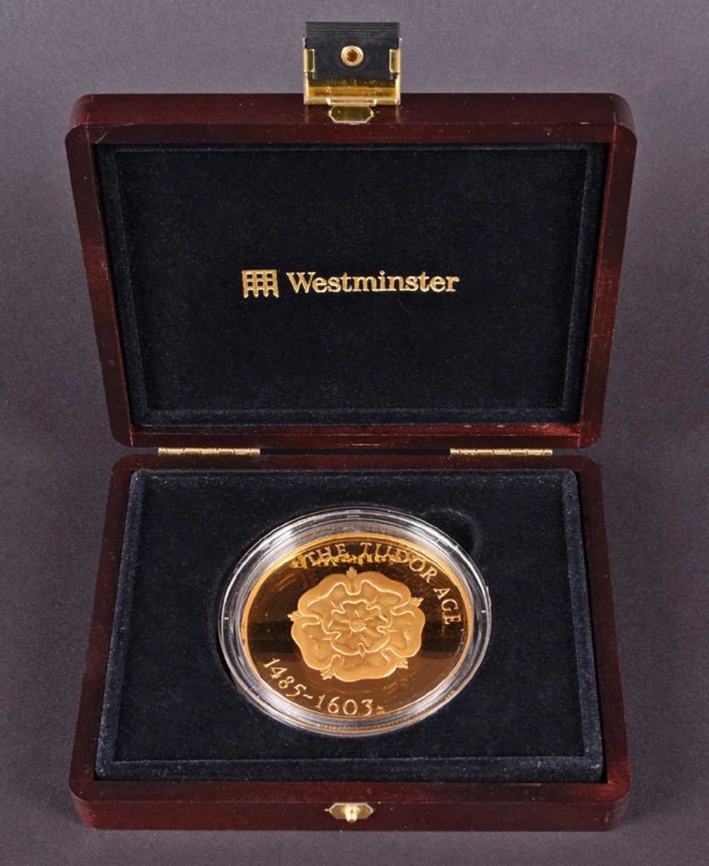 Lot 472-A Tudor Age 5 oz fine gold coin commemorating...