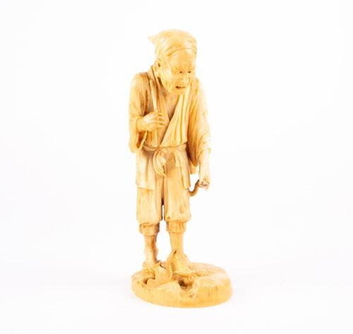 Lot 46-A Japanese ivory okimono, Meiji period, carved...