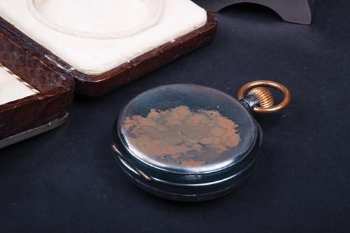 Lot 22-A silver, tortoiseshell and crocodile skin...