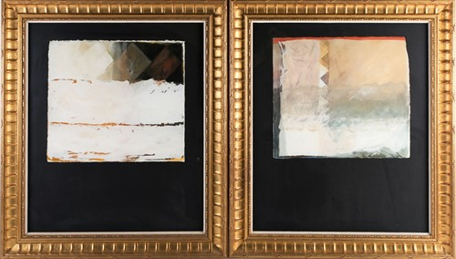 Lot 49 - Hans Tisdall (1910-1997) German, two abstract...
