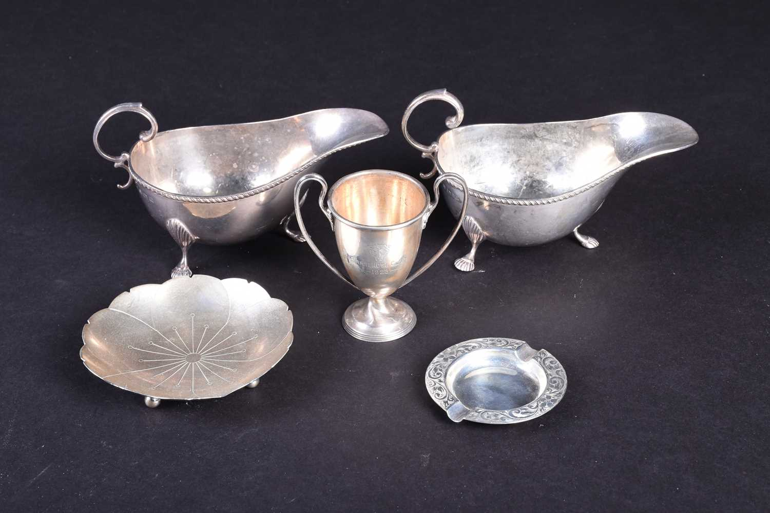 Lot 16-A small group of silver items, comprising two...