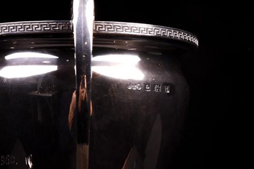 Lot 12-A George V large silver trophy, Birmingham...