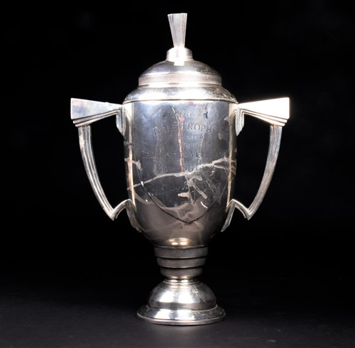 Lot 23-An impressive George VI silver trophy and...