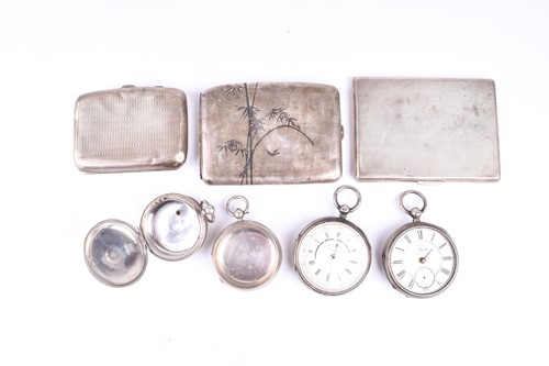 Lot 15-A white metal cased pocket chronograph,...