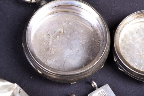 Lot 13-A collection of silver findings, including...