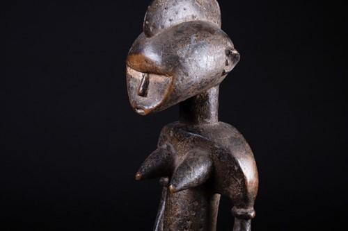 Lot 2 - A Senufo female standing figure, Ivory Coast,...