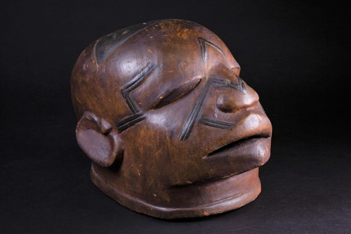 Lot 26 - A Maconde Lipiko mask, Mozambique, carved with...