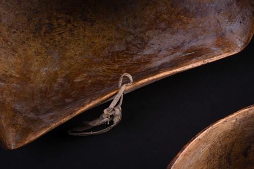 Lot 8 - A Maasai hardwood bowl and scoop, Kenya, the...