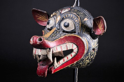Lot 18 - A Barong mask, Bali, Indonesia, hand carved...