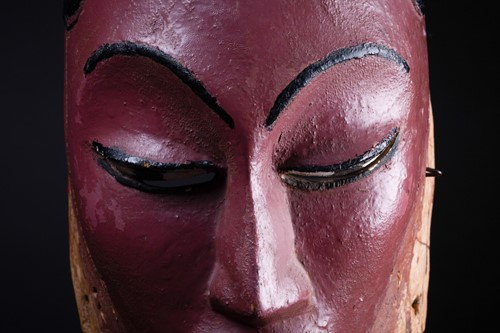 Lot 6 - A Colon mask, Nigeria, the female mask painted...