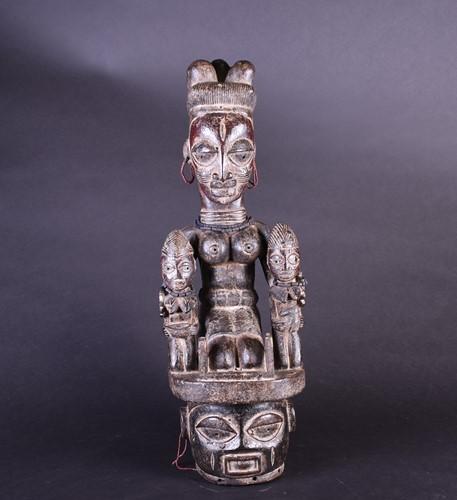 Lot 82 - An Epa headdress, Yoruba, Nigeria, the female...