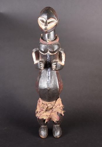 Lot 81 - A Fang standing figure, Gabon, with kaolin...