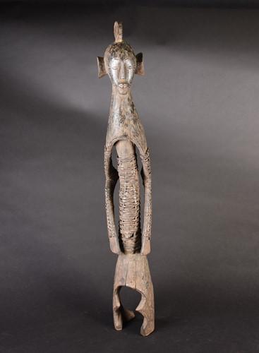 Lot 78 - A Mumuye standing figure, Nigeria, the arms...