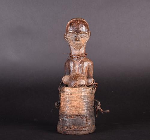 Lot 83 - A Fang Byeri reliquary box, Gabon, the...