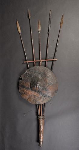 Lot 89 - Five Maasai spears, Kenya, all with leaf...