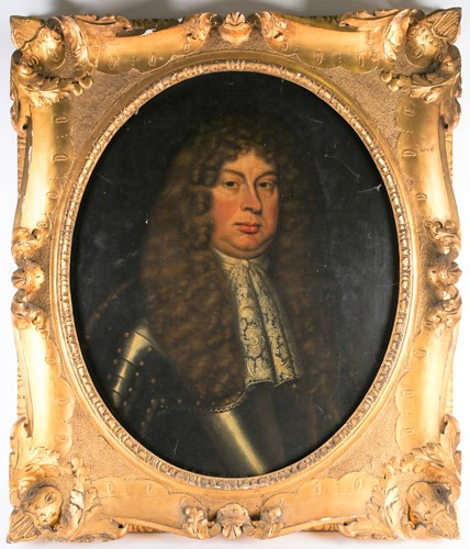 Lot 10 - A large early 18th-century portrait of a...