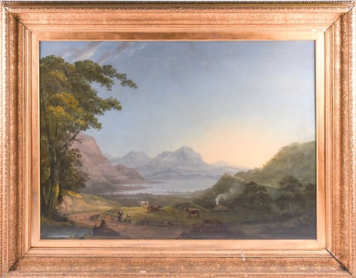 Lot 17 - 19th century English school, a large Lake...