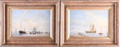 Lot 22 - A pair of 19th century nautical paintings,...