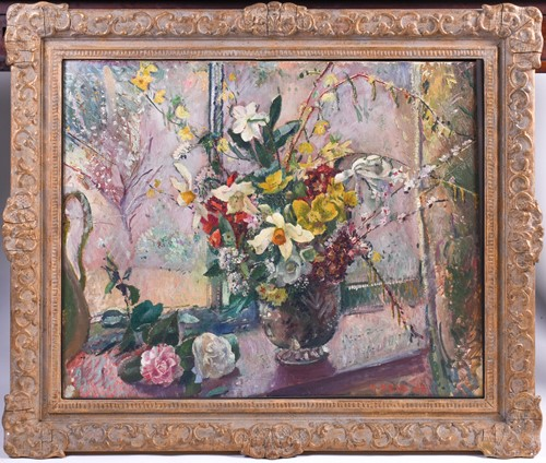 Lot 27 - Malcolm Milne (1887-1954), 'Window', a still...