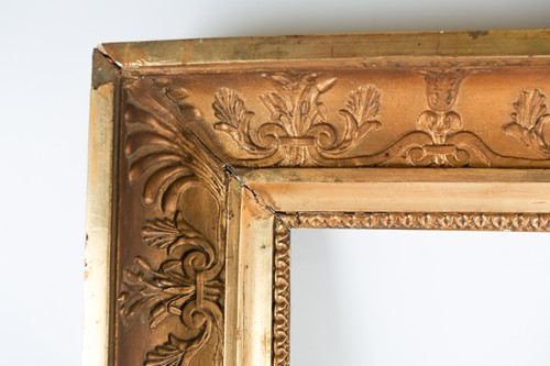 Lot 27 - A Victorian carved and gilt gesso picture...