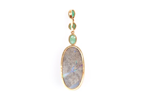 Lot 150 - Grima. An unusual 18ct yellow gold, diamond,...