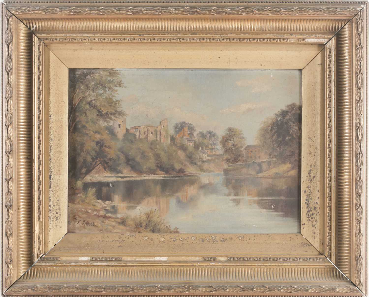Lot 16 - K Ames (early 20th century), a river landscape...