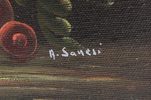 Lot 17 - Anna Sanesi (b.1924), a still life study of...
