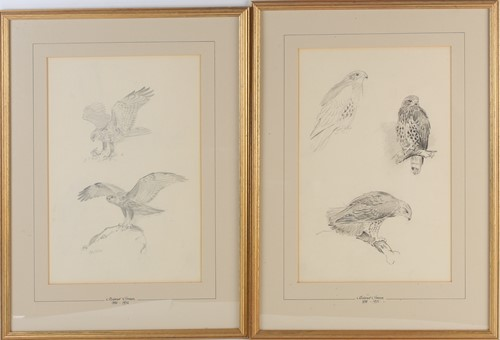 Lot 81 - Roland Green (1896-1972), two framed pencil...