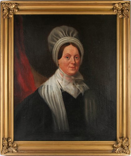 Lot 40 - 19th century school, a portrait of a lady in a...