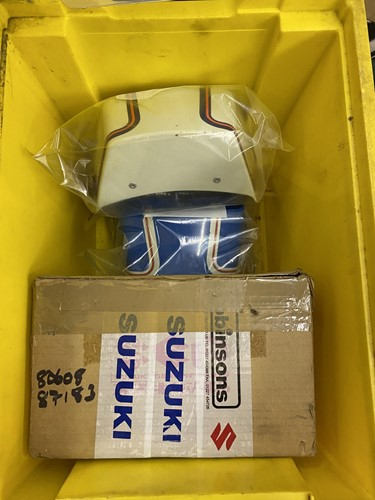 Lot 18 - Suzuki GT185. Two 1979 blue part motorcycles,...
