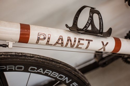 Lot 40 - A Planet X carbon fibre road bicycle, with...