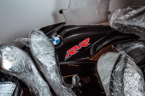 Lot 26 - A set of OEM BMW S1000RR Gen II black bodywork.