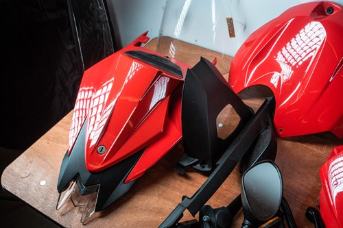 Lot 28 - A set of OEM BMW S1000RR Gen II red bodywork.