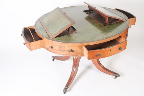 Lot 120 - A George III circular satinwood and strung...
