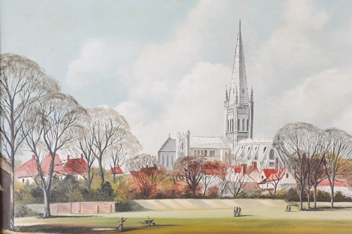 Lot 33 - A. Tingley (20th century), 'Norwich Cathedral...