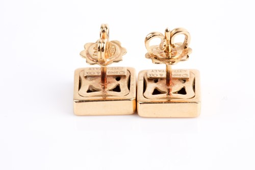 Lot 1 - Tiffany & Co. A pair of 18ct yellow gold plain...