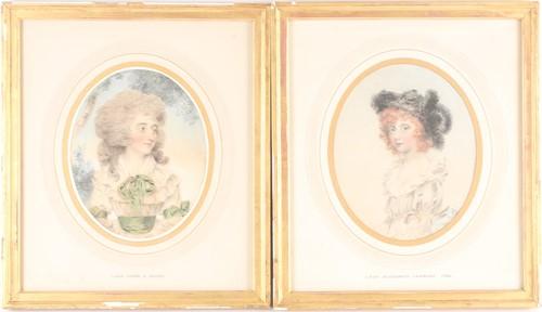 Lot 10 - John Downman (1750-1824), two watercolour &...