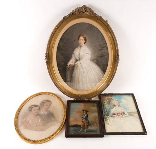 Lot 15 - 18th century Dutch school, a painting on glass...