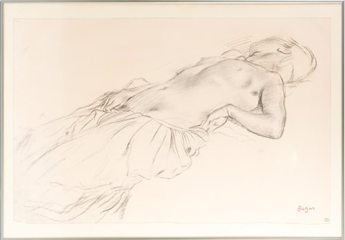 Lot 91 - After Degas (1834 - 1917), 'Reclining Nude'...